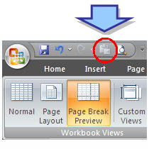 Tombol toolbar Paste Values