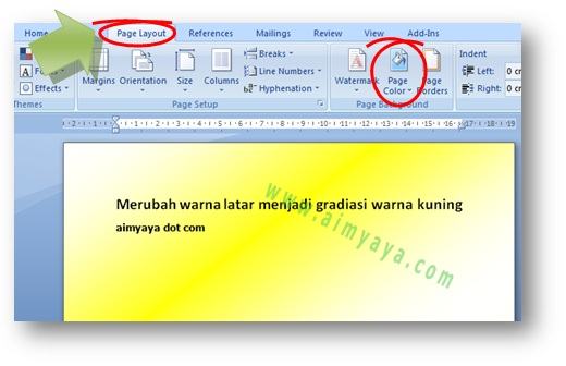 Cara Merubah Warna Background Latar Kertas Di Ms Word